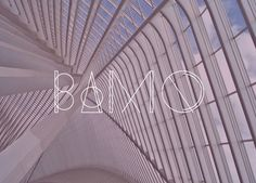 Free Font BAMQ by designer Gulay Inceoglu, is inspired by the modern minimalist architecture