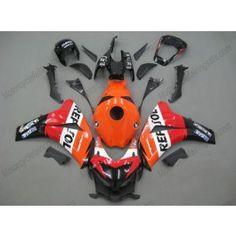 Honda CBR1000RR 2008-2011 Injection ABS Fairing - Repsol - Orange/Red/Black | $679.00
