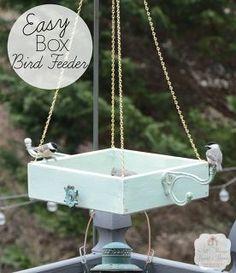 easy platform bird feeder, crafts, gardening, pets animals, woodworking projects