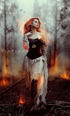 As a child, this was every fantasy character I ever created -- fire and beauty and passion.