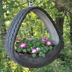 More ideas for using old tyres outdoors