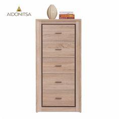 Συρταριέρα με 5 συρτάρια κατάλληλη για όλους τους χώρους του σπιτιού. Από την Alphab2b.gr Dresser, Drawers, Bedroom, Furniture, Home Decor, Products, Powder Room, Decoration Home, Room Decor