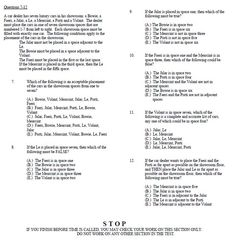#LSAT practice test, SECTION 1, Time- 17 minutes, 30 seconds. Part 2 of 2...  Download the full practice LSAT test for free at http://www.getprepped.com/practice-lsat-sample-questions/