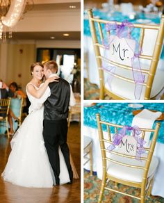 """Handlettered Mr. and Mrs. Signs for a """"Home"""" Themed Wedding by Greatest Story Weddings 
