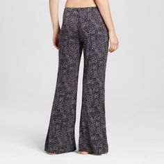 Women's Wide Leg Pajama Pants - Total Comfort - Leopard Print Xxl - Shorts, Size: Xxl Short, Black
