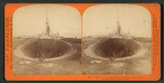 P.M.S.S. & Co.'s Steamship Japan - In the California Dry Dock, Hunter's Point.