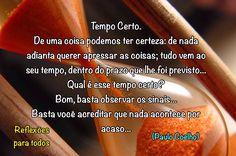 TEMPO CERTO (Paulo Coelho)