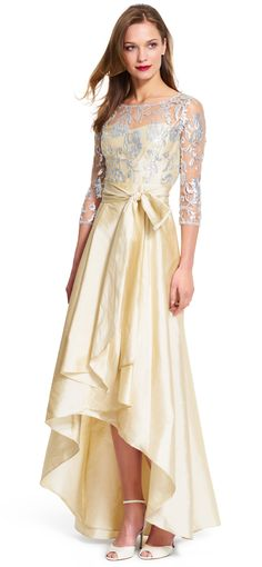 0d49171a47 The pinnacle of glamour is attainable in this gorgeous evening gown. A  sequined lace bodice