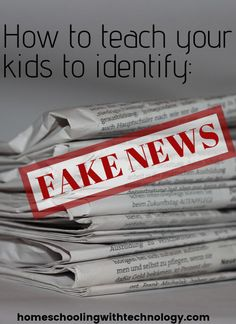 How to teach your kids to identify fake news - Ultimate Homeschool Podcast Network Teaching Reading, Teaching Tools, Teaching Kids, Learning, Homeschool High School, Homeschool Curriculum, Life Skills, Life Lessons, Parenting Articles