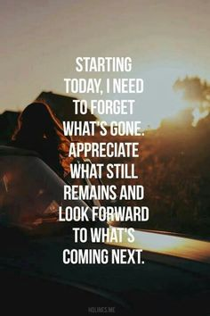 Forget the past look forward