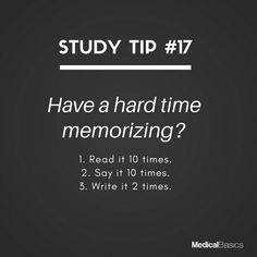 Study tips college - Have any tips for memorizing studygram school studyblr studyingwhat studytips essentials studying student onmydesk reading notes medfacts funfacts medicine whoknew medschool nurses Life Hacks For School, School Study Tips, College Study Tips, Study Tips For Exams, School Ideas, Revision Tips, Uni Life, Study Techniques, Study Motivation Quotes
