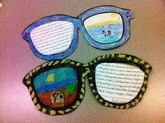 """""""What I Did Over the Summer"""" Sunglasses Writing Activity"""