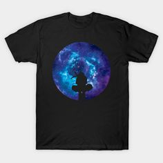 ITACHI OF THE GALAXY GALAXY T-SHIRT | Product Info Color: Black #teepublic #clothes #tee #shirts #naruto #silhouette #galaxy #animemerch