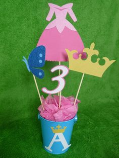 Sleeping Beauty princess centerpiece by lillovebugcreations, $15.00