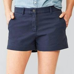 """GAP blue sunkissed shorts Adorable! Features: Flat Front; Zipper Fly; 2 Angled Side Pockets & 2 Rear Welt Pockets; 3.25"""" Inseam  100% Cotton GAP Shorts"""