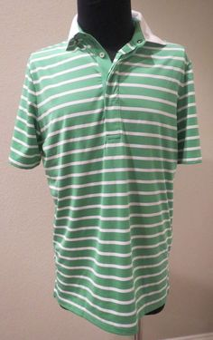 80352ba3c Men s RLX Ralph Lauren Golf Green Thin Striped Polo SHIRT Medium   RLXRalphLauren  ShirtsTops Golf