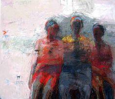 "Sheba Sharrow Acrylic on canvas ""Three Graces,"" 1992, 68in x 78in"
