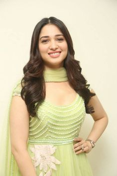 Tamannaah Bhatia stills at Sketch Press Meet wearing green anarkali designed by Neeta Lulla. Tamannah Bhatia photos at Sketch movie press meet. Indian Actress Photos, Indian Bollywood Actress, Beautiful Bollywood Actress, South Indian Actress, Indian Actresses, Tamil Actress, Beautiful Girl Indian, Most Beautiful Indian Actress, Beautiful Saree