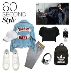 """""""Drake inspired"""" by andrea-tatis ❤ liked on Polyvore featuring Versace, WithChic, adidas Originals, rag & bone, Beats by Dr. Dre, Casetify, men's fashion, menswear, DRAKE and views"""