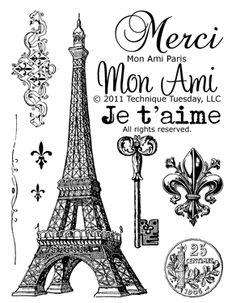 Mon Ami Paris stamp set from Technique Tuesday