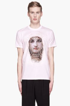 Givenchy Pink Cotton Tron Madonna Print T_shirt -  Givenchy Pink Cotton Tron Madonna Print T_shirt Givenchy Short sleeve relaxed_fit t_shirt in pink. Ribbed crewneck collar. Layered multicolor graphic print at front. Tonal stitching. Price $680.00 Click HERE for more Information