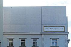 'Understand who we are'. ArcDog Images: Vorarlberg Museum | Cukrowicz Nachbaur Architekte. Image  ArcDog in 2014. #arcdog #image #arcdogimages #architecture #photography #architect #building #space #architecturephotography #vorarlberg #museum #cukrowicznachbaur #facade #concrete #bregenz #austria