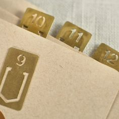 Muhs Home - Brass Number Clips