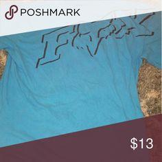 Fox Racing Blue Fox Racing T shirt Fox Tops Tees - Short Sleeve