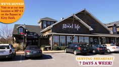 The Good Life Gourmet is Kitty Hawk's premier restaurant, with a fresh deli, bistro, and eatery. The locals know us as one of the best Outer Banks restaurants that serve lunch and breakfast daily. Start the day with one of our spectacular breakfast dishes, served hot at your table in a frying pan! Our menu also features a wide variety of bistro selections, including gourmet salads, grinders, soups, vegetarian dishes, sandwiches, wraps and Paninis, and good ol' Southern comfort food!