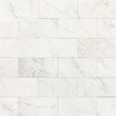 "Daltile M313-361L Marble Contempo White 6"" x 3"" Polished Stone Multi-Surface Tile  $13 sq/ft"