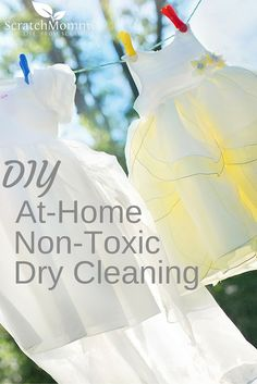 Skip the cleaners! Learn all about how to DIY your Dry Cleaning AT home with with NO toxic ingredients.