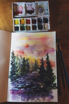 Image via We Heart It https://weheartit.com/entry/153788992 #colour #colours #draw #drawing #paint #painting #trees