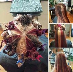 HOT NEW Hair Coloring Technique: Pinwheel Color!   Hair coloring ...