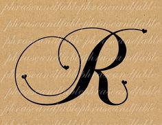 Lettera R Cuore 288 Digital Download Alfabeto iniziale Nome Glyph carattere font Tipografia clipart on Etsy, € 1,54