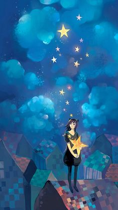 Lee Fotos Para Seu Celular 15 de la historia Fotos Para Tela Do Seu Celular& por AdrianeHoran (Adriane Horan) co. Sun Moon Stars, Sun And Stars, Illustrations, Illustration Art, Chat Origami, Falling Stars, Moon Art, Cute Art, Urban Art