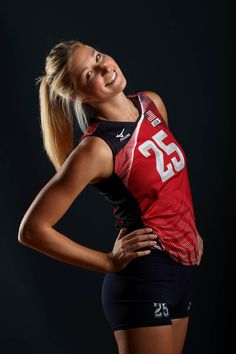Karsta Lowe Photos - Karsta Lowe of the USA women's indoor volleyball team poses for a portrait at the American Sports Center on May 2016 in Anaheim, California. Olympic Volleyball, Volleyball Games, Volleyball Outfits, Volleyball Pictures, Women Volleyball, Volleyball Players, Beach Volleyball, Famous Sports, Basketball Mom