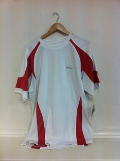 Sz Xl Xxl Never.. Wide Selection; Mens Artengo Tennis Shirt Lightweight Blue& Red Pin Stripe
