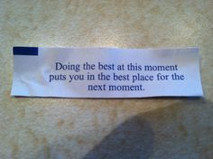 i love fortune cookie wise words! Love Fortune Cookie, Fortune Cookie Quotes, Funny Fortunes, Journal Questions, Feeling Sad, Work Quotes, Wise Words, Tattoo Quotes, Cookies