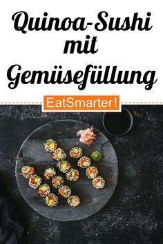 Quinoa Sushi, Eat Smarter, Vegan Vegetarian, Low Carb, Drinks, Party, Recipes, Gourmet, Finger Food