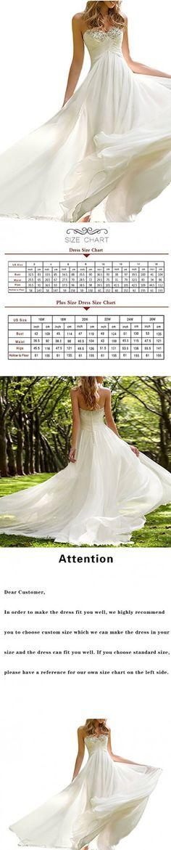 Favors Dress Women's Sweetheart Beach Wedding Dress Bead Bridal Gown Empire Ivory B 2