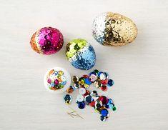 Sequin color-blocked Egg- love for Easter!