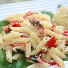 Pasta Alla Checca : Allrecipes.com  I've made this with cherry tomatoes & mozzerella - set a ceramic bowl covered in plastic wrap outdoors at noon, and at dinnertime, boil the pasta.