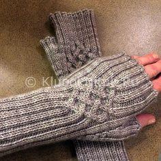 Митенки с листиками | Вязание для женщин | Вязание спицами и крючком. Схемы вязания.