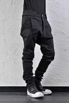 Visions of the Future // deviant blog - N/07 DROPSLIM SARROUEL PANT 13oz / SPANDEX-DENIM #BLACK