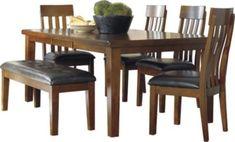 Ashley Ralene Table, 4 Chairs, & Bench