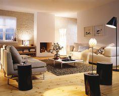 Im Wohnzimmer bieten sich viele Möglichkeiten mit indirektem Licht zu arbeiten. Um trotz vieler Leuchten Energie zu sparen können Sie in klassischen Lampenfassungen LED Leuchtmittel wie z.B. LED Filament Lampen einsetzen.  http://www.ledteile.com/4w-led-filament-lampe-e27-warmweiss.html