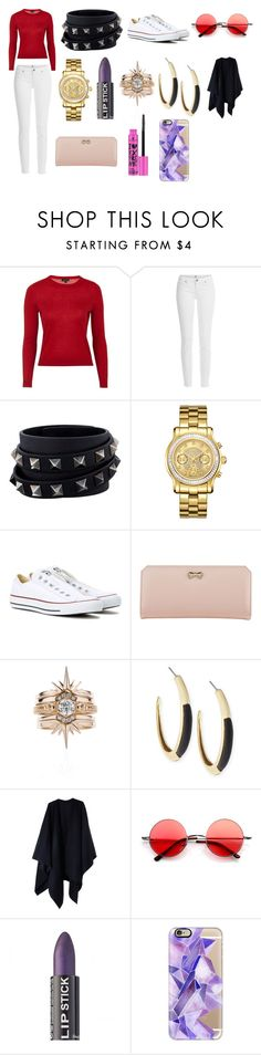 """""""You tried to track him down but somebody stole his number"""" by palefiction ❤ liked on Polyvore featuring Topshop, Paige Denim, Valentino, JBW, Converse, Zodaca, Alexis Bittar, Acne Studios, Retrò and Casetify"""