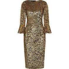 Michael Kors Collection Sequinned tulle midi dress