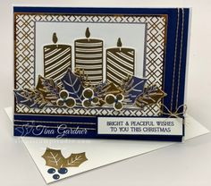 Stampin Up Christmas, Christmas Cards To Make, Christmas Colors, Xmas Cards, Christmas 2016, Christmas Ideas, Christmas Candles, Cards For Friends, Stamping Up