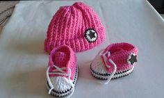 Patucos tipo converse baby bebe shoes deportivas bebe por Marivinix